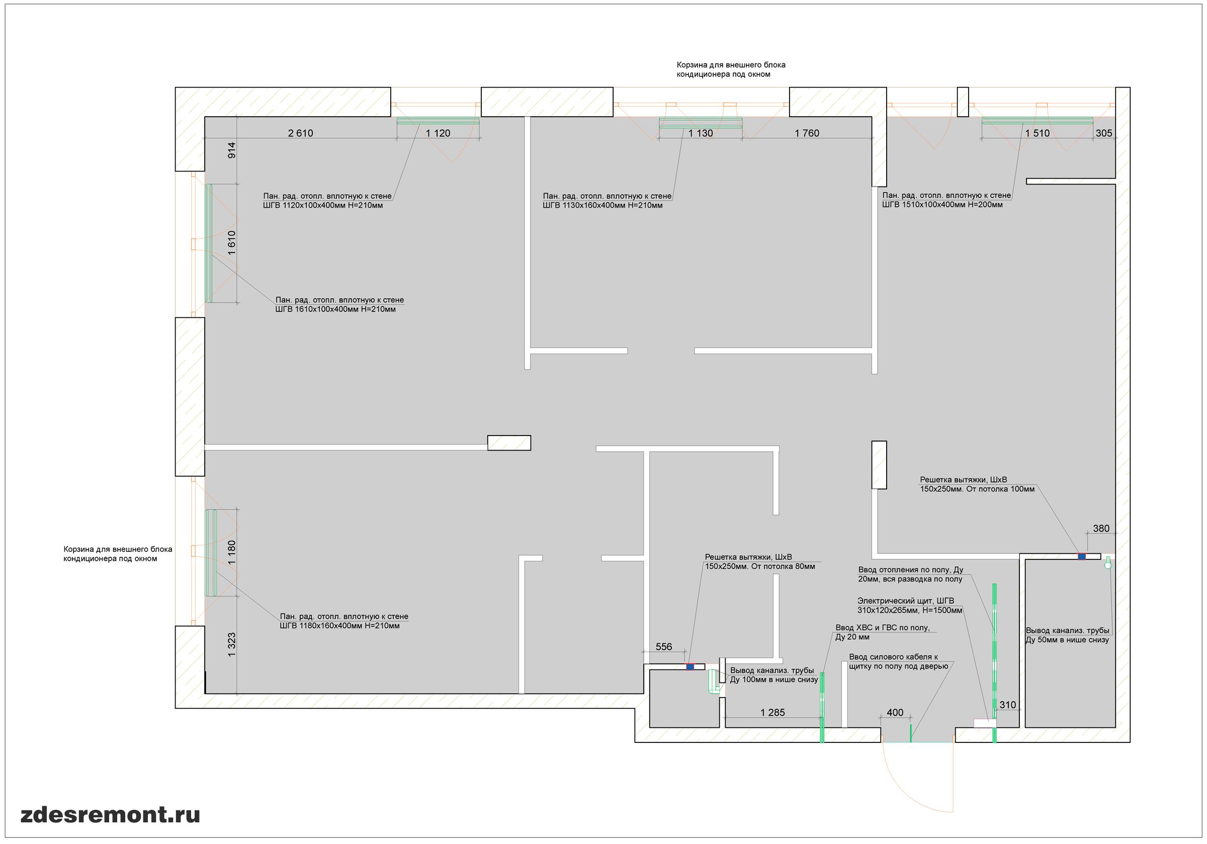 Обмер квартиры ArchiCad - инженерные системы