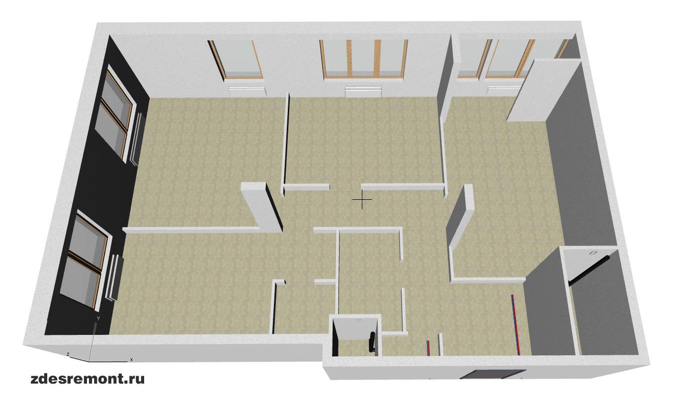 ArchiCad - 3D модель квартиры