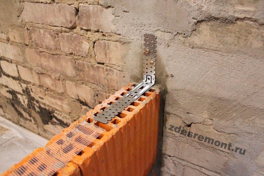 Перегородка из керамических блоков в квартире крепление к стене