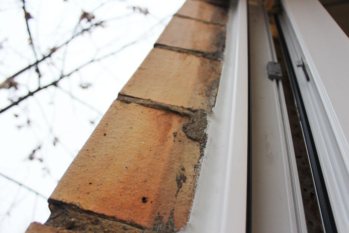 Красивое примыкание окна снаружи
