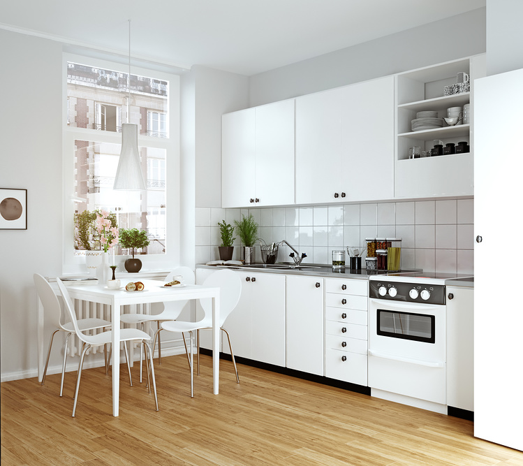 Современный интерьер кухни в скандинавском стиле