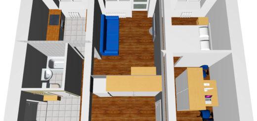 Планировка двухкомнатной хрущевки с мебелью