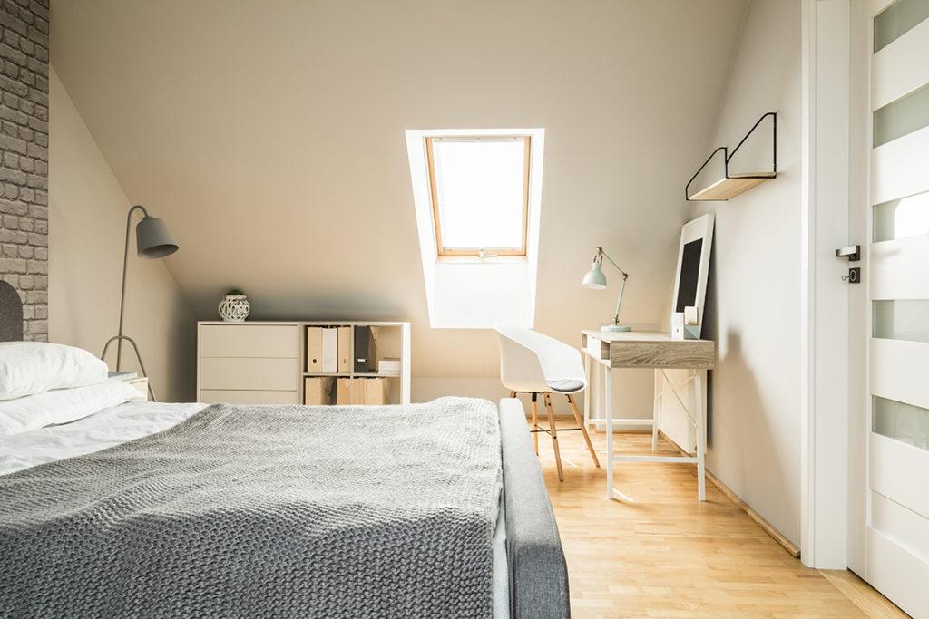 Современный интерьер спальни в скандинавском стиле