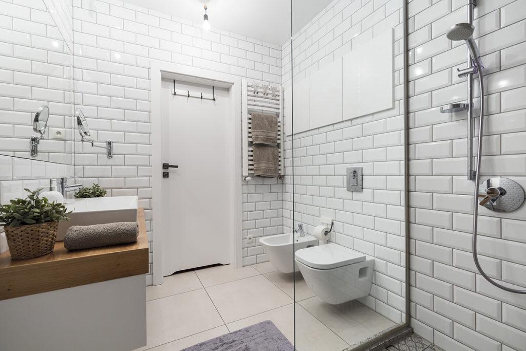 современная ванная в скандинавском стиле